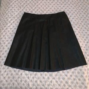 NEW NEVER WORN Hollister black leather skirt